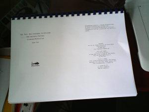 Probeabzug des Manuskripts